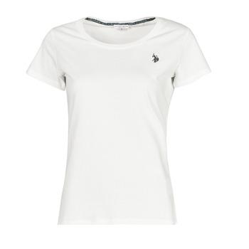 Kleidung Damen T-Shirts U.S Polo Assn. BELLA R NECK TEE SS Weiss