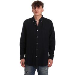 Kleidung Herren Langärmelige Hemden Navigare NV91108 Blau