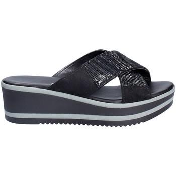 Schuhe Damen Pantoffel Grace Shoes 21114 Schwarz
