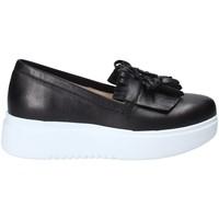 Schuhe Damen Slip on Exton E01 Schwarz