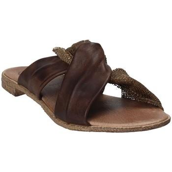 Schuhe Damen Pantoffel 18+ 6113 Braun
