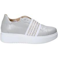 Schuhe Damen Slip on Exton E05 Grau
