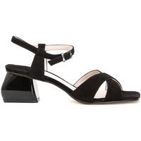 Schuhe Damen Sandalen / Sandaletten Café Noir ME571 Schwarz