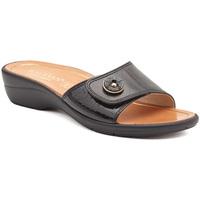 Schuhe Damen Pantoffel Susimoda 1651-01 Schwarz