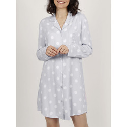 Kleidung Damen Pyjamas/ Nachthemden Admas Classic Dots  langärmeliges Nachthemd Hellgrau