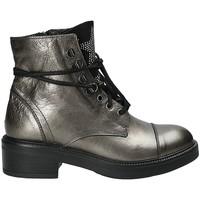 Schuhe Damen Low Boots Mally 6019 Silber