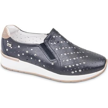 Schuhe Damen Slip on Valleverde V66384 Blau