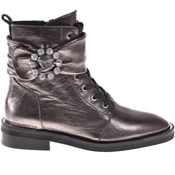 Schuhe Damen Low Boots Elvio Zanon I8101N Grau