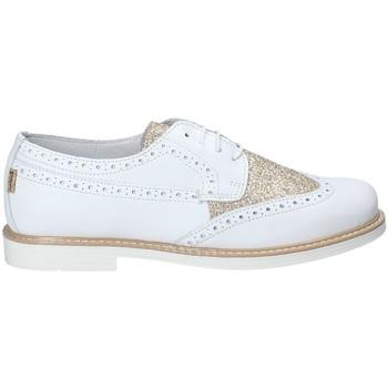 Schuhe Kinder Leinen-Pantoletten mit gefloch Melania ME6003F8E.D Weiß