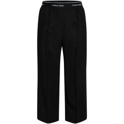 Kleidung Damen Fließende Hosen/ Haremshosen Calvin Klein Jeans K20K201766 Schwarz
