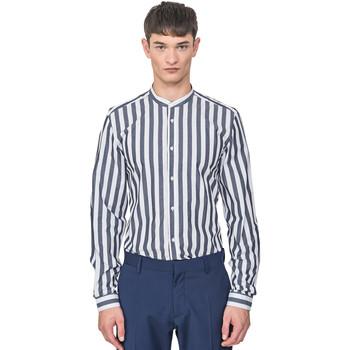 Kleidung Herren Langärmelige Hemden Antony Morato MMSL00604 FA420096 Blau