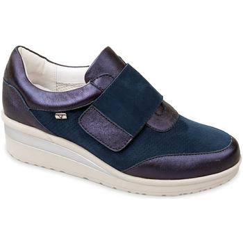 Schuhe Damen Slip on Valleverde V20370 Blau