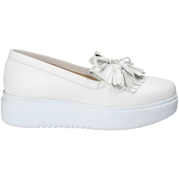 Schuhe Damen Slip on Exton E01 Weiß