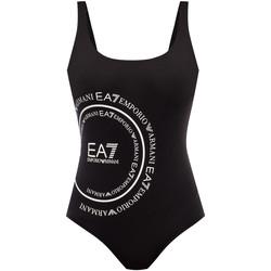 Kleidung Damen Badeanzug Ea7 Emporio Armani 911128 0P427 Schwarz