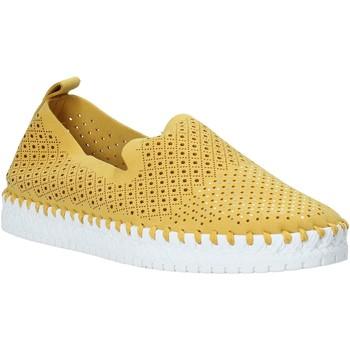 Schuhe Damen Slip on Grunland SC4916 Gelb