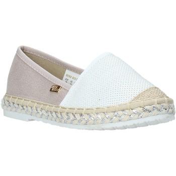 Schuhe Mädchen Leinen-Pantoletten mit gefloch Miss Sixty S20-SMS704 Weiß