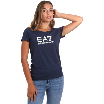 Kleidung Damen T-Shirts Ea7 Emporio Armani 8NTT63 TJ12Z Blau