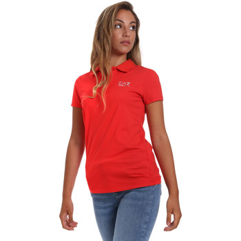 Kleidung Damen Polohemden Ea7 Emporio Armani 3HTF57 TJ29Z Rot