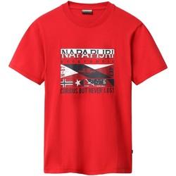 Kleidung Herren T-Shirts Napapijri NP0A4E35 Rot