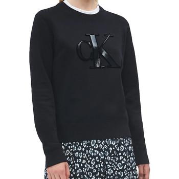 Kleidung Damen Sweatshirts Calvin Klein Jeans Logo monogramme Schwarz