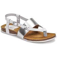 Schuhe Damen Sandalen / Sandaletten Kickers ANAGRAMI Weiss / Silbern
