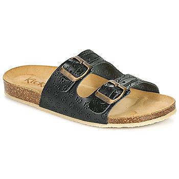 Schuhe Damen Pantoffel Kickers ECOLOG Schwarz