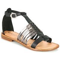 Schuhe Damen Sandalen / Sandaletten Kickers ETIKET Schwarz / Silbern
