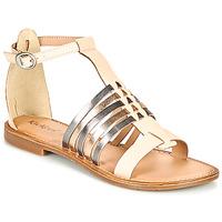 Schuhe Damen Sandalen / Sandaletten Kickers ETIKET Rose / Mettalfarben / Silbern