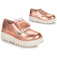 Schuhe Damen Derby-Schuhe Kickers KICKOUCLASS Rose / Mettalfarben