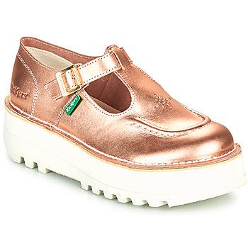 Schuhe Damen Ballerinas Kickers KICKOUSTRAP Rose / Mettalfarben