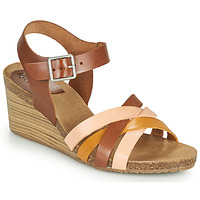 Schuhe Damen Sandalen / Sandaletten Kickers SOLYNIA Rose / Braun / Gelb