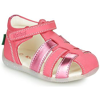 Schuhe Mädchen Sandalen / Sandaletten Kickers BIGFLO-2 Rose