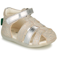 Schuhe Mädchen Sandalen / Sandaletten Kickers BIGFLO-2 Silbern