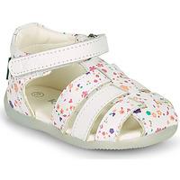 Schuhe Mädchen Sandalen / Sandaletten Kickers BIGFLO-2 Weiss