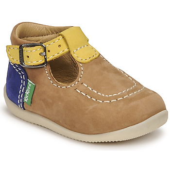 Schuhe Jungen Sandalen / Sandaletten Kickers BONBEK-2 Beige / Gelb / Marine