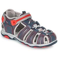 Schuhe Jungen Sandalen / Sandaletten Kickers KAWA Marine / Rot