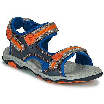 Schuhe Jungen Sandalen / Sandaletten Kickers KIWI Blau / Orange