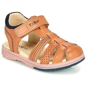 Schuhe Jungen Sandalen / Sandaletten Kickers PLATINIUM Camel