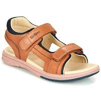 Schuhe Jungen Sandalen / Sandaletten Kickers PLATINO Camel