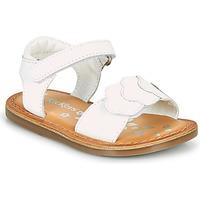 Schuhe Mädchen Sandalen / Sandaletten Kickers DYASTAR Weiss