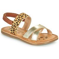 Schuhe Mädchen Sandalen / Sandaletten Kickers DYACROSS Gold / Leopard