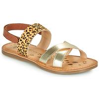 Schuhe Mädchen Sandalen / Sandaletten Kickers DYACROSS Gold