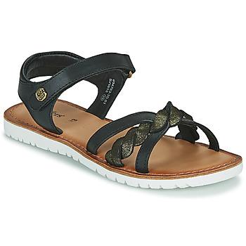 Schuhe Mädchen Sandalen / Sandaletten Kickers BETTYL Schwarz
