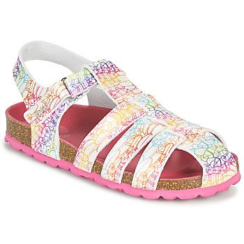 Schuhe Mädchen Sandalen / Sandaletten Kickers SUMMERTAN Weiss