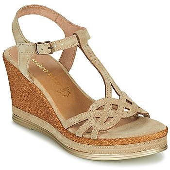 Schuhe Damen Sandalen / Sandaletten Marco Tozzi GRIMNI Grau