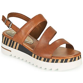 Schuhe Damen Sandalen / Sandaletten Marco Tozzi ANTINI Cognac