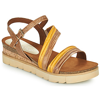 Schuhe Damen Sandalen / Sandaletten Marco Tozzi LIZZA Cognac