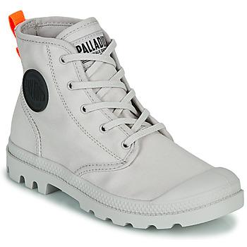 Schuhe Damen Boots Palladium PAMPA HI TWILL Grau