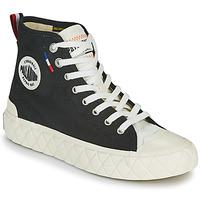Schuhe Sneaker High Palladium PALLA ACE CVS MID Schwarz / Weiss