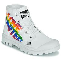 Schuhe Boots Palladium PAMPA HI PRIDE Weiss / Multifarben